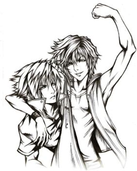Noct and Prompto by lacrimadoll