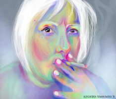 smoking portrait by KrolowaKur