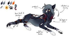 'Pearl' Wolf Design (AUCTION, CLOSED) by ChamberedNoctilus