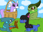Dragon Pokemon's Easter day by nickel8