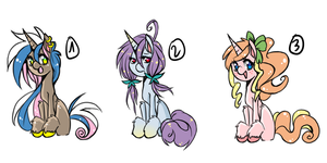 ADOPTABLES : MLP unicorn set [CLOSED] by Piko-ka