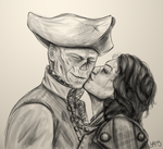Hancock and Ariana Sketch by lisaarevalo