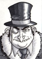Penguin Sketchcard by TheRigger