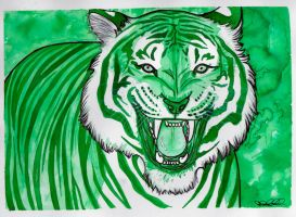 .Green Tiger. by CheshireSmile