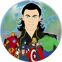 .:The Avengers:. Tshirt Design by lizluvsanime2