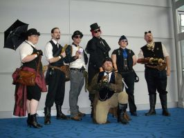 Steampunk Group Shot by Feybles