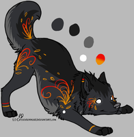 Fiery Canine Design by ChamberedNoctilus