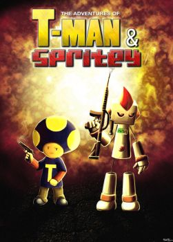 T-Man and Spritey Poster by keithpickering