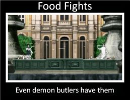 one hell of a food fight by Imclueless