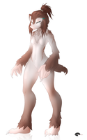 Uncommon anthro : Mole girl by Shalinka