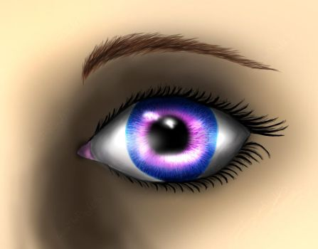 I drew realistic eye by LunaTheDog123