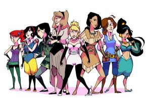 Disney Princess Smackdown by lalallama