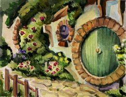 Hobbit house by Rabbit-Seeker