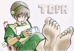Toph: What Am I Drinking... :/ by Iza-nagi