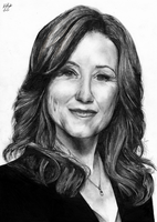 President Roslin - BW by The-13th-Doctor