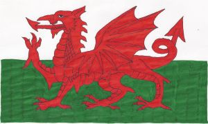 Hand-drawn flag of Wales by cool1097
