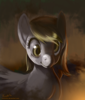 MLP FIM: Derpy Portrait by hinoraito