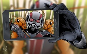 Ant-man taking a little selfie by Spidertof