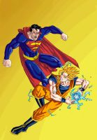 Superman vs. Goku by phil-cho
