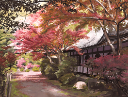[OLD WORK] Japanese Scenery Study by Blunell