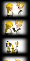 [MMD] Len and Neru Sweet Kiss by I-Am-Kayoy