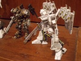 Armored Core - plastic and paper model by Sermann