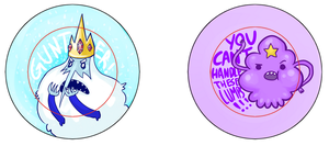 Ice King and LSP Pins by IdentityPolution