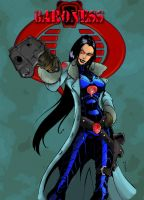 G.I. Joe- Baroness in color by MastahYogah