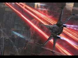 X-Wing Close-Up by Andrew-Lim