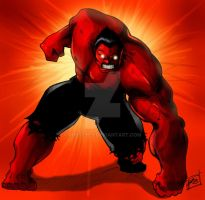 red HULK by robseyes