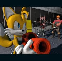 Rival Battle: Tails vs Engineer by Pika-Robo