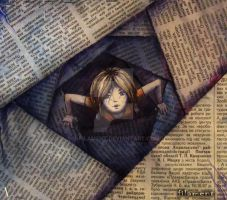 Friend-writer (collage) by j-filament