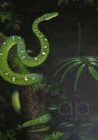 Emerald Tree Boa by AnahitaPhae