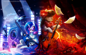 MLP: Octavia and Vinyl by AquaGalaxy