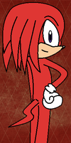 Knuckles The Echidna by Sweetgirl333