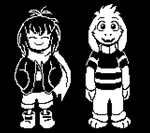 Endertale!Frisk and Asriel Sprites by TC-96