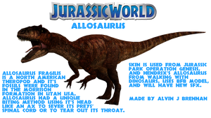 Allosaurus Jurassic World by GorgonGorgosaurus