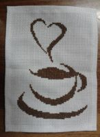 Cup of coffee cross stitch by Nanja-kid
