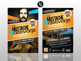 Movember Wrap-Up Party Flyer by rjartwork