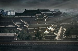 Forbidden city dark rain - Beijing by Marcusion