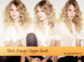 Pack 3 png's Taylor Swift by spaceboound