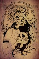 La Muerta by skullberries