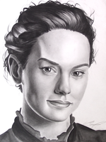 Daisy Ridley Charcoal Portrait by AnthonyParenti
