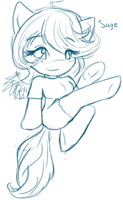 Sage - chibi sketch WIP - by Watergleam by SEMC