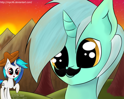 MLP: Lyra got a mustacho by Mpc46
