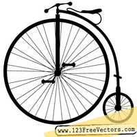 Penny-Farthing Bicycle Vector Clip Art by 123freevectors