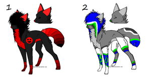 More Free Wolf Adopts by SplashTheCrazyWolf