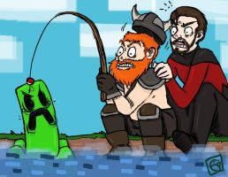 Yogscast fishing by Spockalicious
