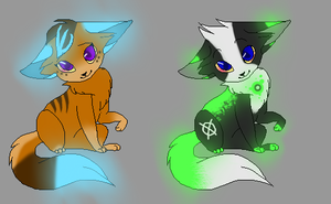 Glowy Kittens uwu by Tori-Adopts