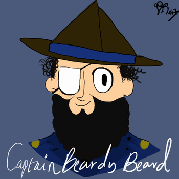 Capppppn Beardy by Kezonthemooon